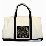Black And White Pattern Two Tone Tote Bag Front