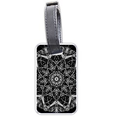 Black And White Pattern Luggage Tag (two Sides) by Sobalvarro