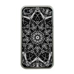 Black And White Pattern iPhone 4 Case (Clear) Front