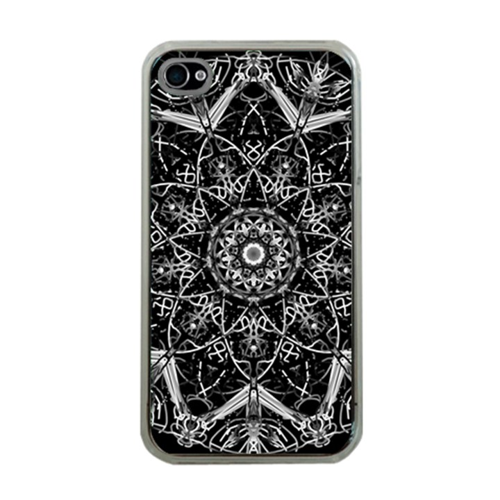 Black And White Pattern iPhone 4 Case (Clear)