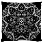 Black And White Pattern Large Cushion Case (One Side) Front