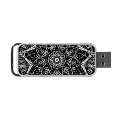 Black And White Pattern Portable Usb Flash (two Sides) by Sobalvarro