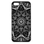 Black And White Pattern iPhone 5 Seamless Case (Black) Front