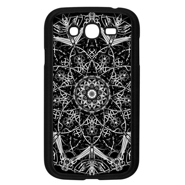 Black And White Pattern Samsung Galaxy Grand DUOS I9082 Case (Black)