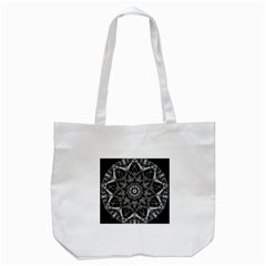 Black And White Pattern Tote Bag (white)