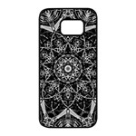 Black And White Pattern Samsung Galaxy S7 edge Black Seamless Case Front