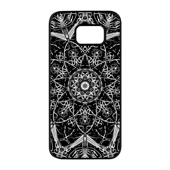 Black And White Pattern Samsung Galaxy S7 edge Black Seamless Case