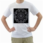 Black And White Pattern Men s T-Shirt (White) (Two Sided) Front