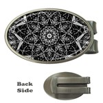 Black And White Pattern Money Clips (Oval)  Front