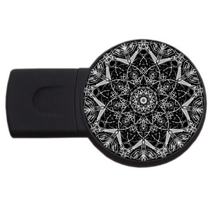 Black And White Pattern USB Flash Drive Round (2 GB)