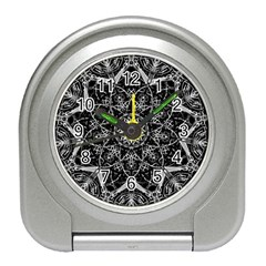 Black And White Pattern Travel Alarm Clock