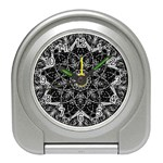 Black And White Pattern Travel Alarm Clock Front