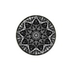 Black And White Pattern Hat Clip Ball Marker Front