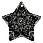 Black And White Pattern Star Ornament (Two Sides) Back