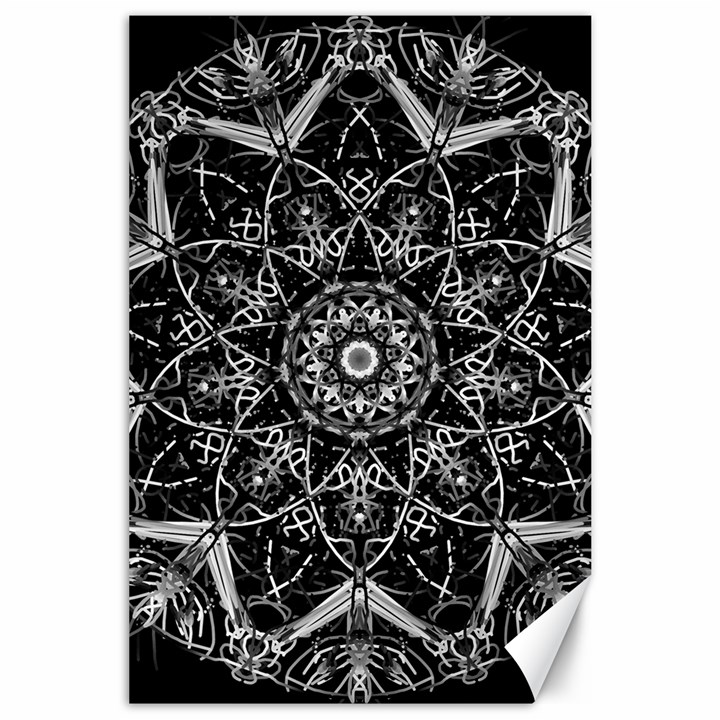 Black And White Pattern Canvas 24  x 36