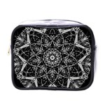Black And White Pattern Mini Toiletries Bag (One Side) Front