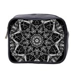 Black And White Pattern Mini Toiletries Bag (Two Sides) Front