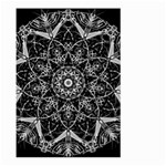 Black And White Pattern Large Garden Flag (Two Sides) Back