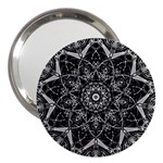 Black And White Pattern 3  Handbag Mirrors Front