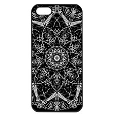 Black And White Pattern Iphone 5 Seamless Case (black)