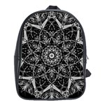 Black And White Pattern School Bag (XL) Front