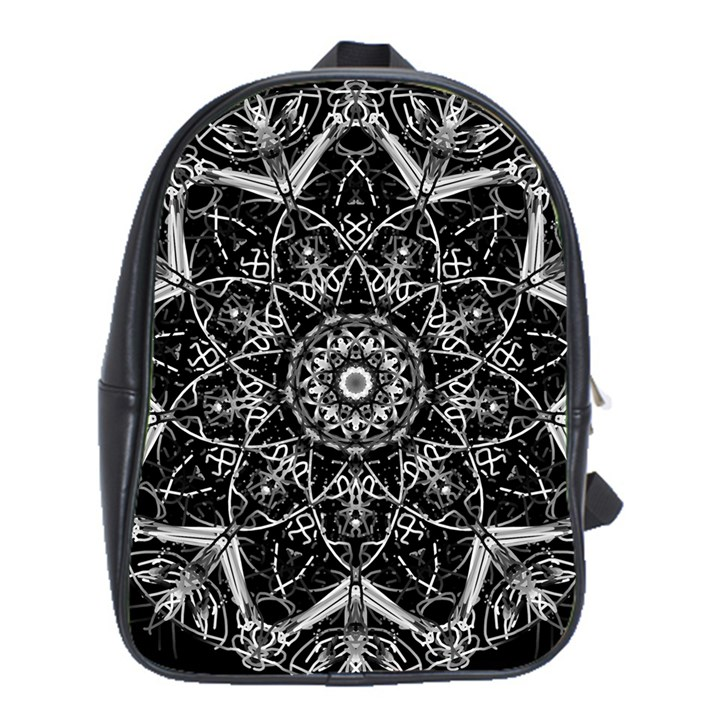 Black And White Pattern School Bag (XL)