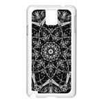 Black And White Pattern Samsung Galaxy Note 3 N9005 Case (White) Front