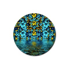 Flower Island And A Horizon Rubber Coaster (round)  by pepitasart
