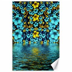 Flower Island And A Horizon Canvas 20  X 30  by pepitasart