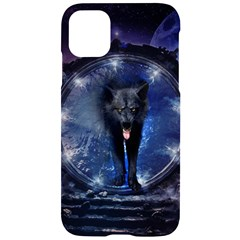 Awesome Wolf In The Gate Iphone 11 Black Uv Print Case