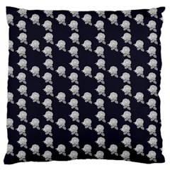 White Rose In Blue Large Flano Cushion Case (two Sides)