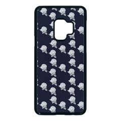 White Rose In Blue Samsung Galaxy S9 Seamless Case(black) by snowwhitegirl