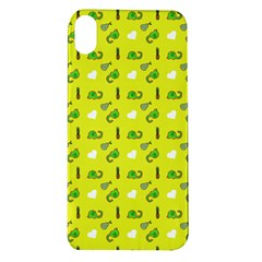 Green Elephant Pattern Yellow Apple Iphone Xr Tpu Uv Case by snowwhitegirl