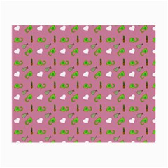 Green Elephant Pattern Mauve Small Glasses Cloth