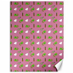 Green Elephant Pattern Mauve Canvas 36  X 48  by snowwhitegirl