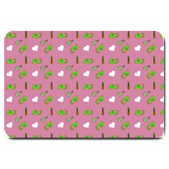 Green Elephant Pattern Mauve Large Doormat