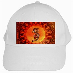Wonderful Chinese Dragon White Cap by FantasyWorld7
