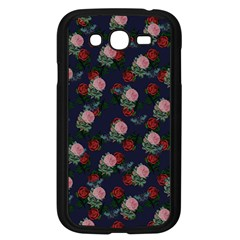 Dark Floral Butterfly Blue Samsung Galaxy Grand Duos I9082 Case (black)