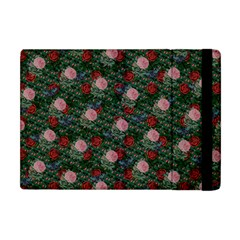 Dark Floral Butterfly Teal Bats Lip Green Apple Ipad Mini Flip Case by snowwhitegirl
