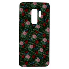 Dark Floral Butterfly Teal Bats Lip Green Samsung Galaxy S9 Plus Tpu Uv Case by snowwhitegirl