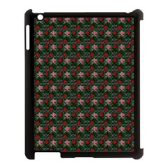 Dark Floral Butterfly Teal Bats Lip Green Small Apple Ipad 3/4 Case (black)