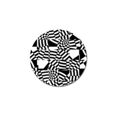 Black And White Crazy Pattern Golf Ball Marker (10 Pack) by Sobalvarro