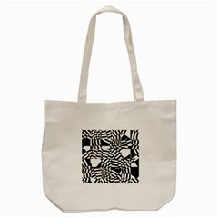 Black And White Crazy Pattern Tote Bag (cream)