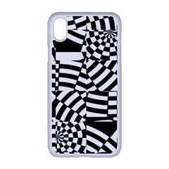Black And White Crazy Pattern Iphone Xr Seamless Case (white) by Sobalvarro
