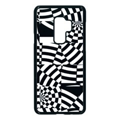 Black And White Crazy Pattern Samsung Galaxy S9 Plus Seamless Case(black) by Sobalvarro