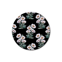 Floral Vintage Wallpaper Pattern 1516863120hfa Rubber Coaster (round)  by Sobalvarro