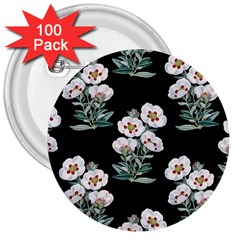 Floral Vintage Wallpaper Pattern 1516863120hfa 3  Buttons (100 Pack)