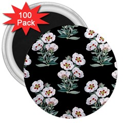 Floral Vintage Wallpaper Pattern 1516863120hfa 3  Magnets (100 Pack)