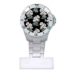 Floral Vintage Wallpaper Pattern 1516863120hfa Plastic Nurses Watch