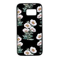 Floral Vintage Wallpaper Pattern 1516863120hfa Samsung Galaxy S7 Black Seamless Case